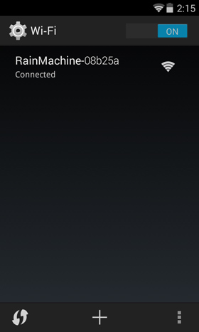 Google Android Wi-Fi settings screen on the smartphone device
