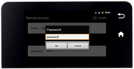 RainMachine Touch HD - Enter the new password screen
